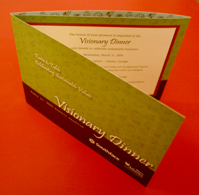 Invitation to the Southface Visionary Dinner 2009