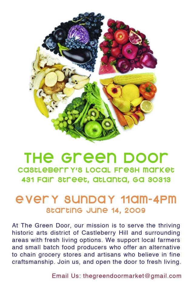 The Green Door Market is now bringing local Georgia farms to the Castleberry Hill district!