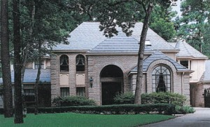Metal roofs can also emmulate other types of shingled or slate roofs, as seen above. (Photo courtesy of Mel Harris Co, Inc.)