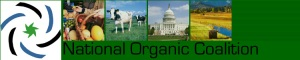 National Organic Coalition banner