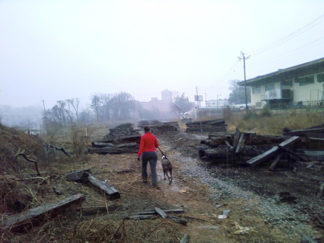 Railroad cross ties are removed to make way for the Atlanta BeltLine hiking path in the northeast corridor