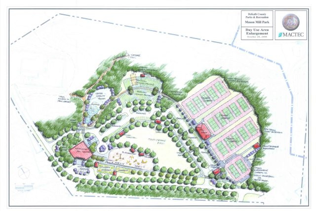 Mason Mill Park redevelopment plans - suggested plan for day use area