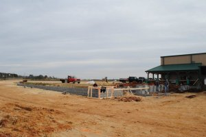 Construction begins on the abattoir at White Oak Pastures