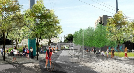 Atlanta BeltLine Eastside Trail rendering - 10th and Monroe