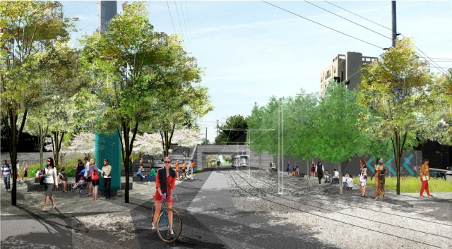 Atlanta BeltLine Eastside Trail rendering - 10th and Monroe