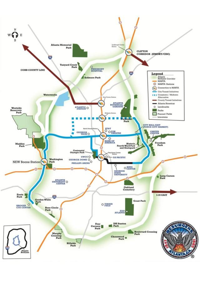 Atlanta BeltLine's Transportation Referendum map